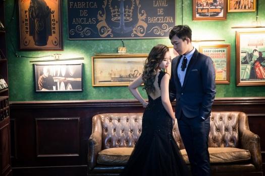 氣質黑色禮服婚紗照-桃園婚攝UME