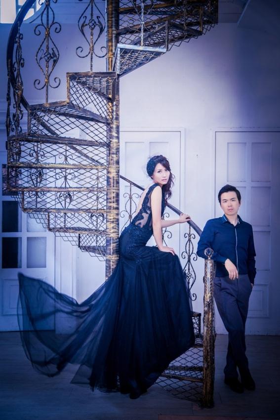 個性時尚黑色禮服-桃園婚攝Ume