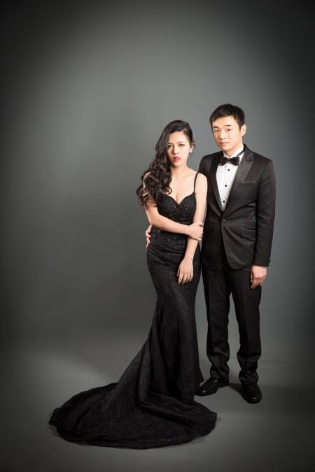 個性黑色禮服婚紗照-桃園婚攝Ume